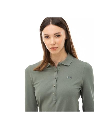Lacoste Kadın  Tişört PF7841P.FKM Yeşil